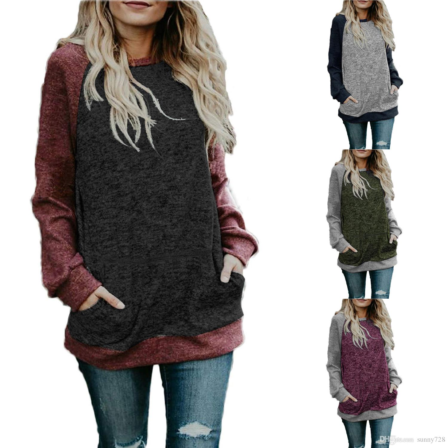 399d4df38b58eb 2018 Autumn Hot Sale Long Sleeves Crew Neck Casual T Shirts with ...