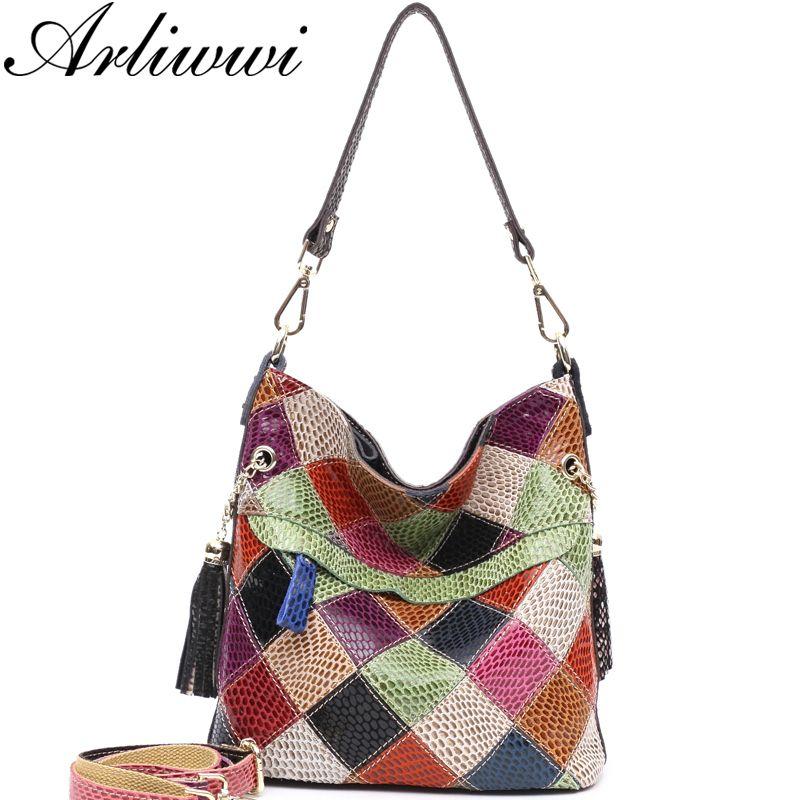 97efe49cf221 2019 Fashion Arliwwi 100% Genuine Leather Colorful Summer Style Shoulder  Bags Handmade Individual Roomy Cross Body Handbags Lady Handbag Wholesale  Hobo ...