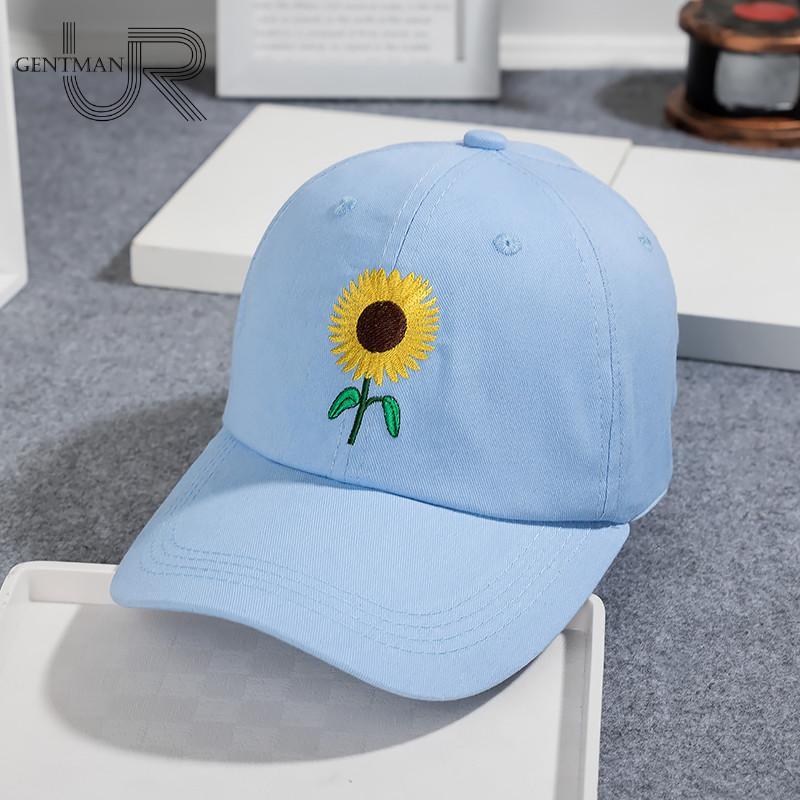 e369710a395 New Fashion Sunflower Embroidery Baseball Caps Cotton Snapback Hats Caps  For Men Women Adjustable Couple Cap Baseball Caps Caps Hats Online with ...