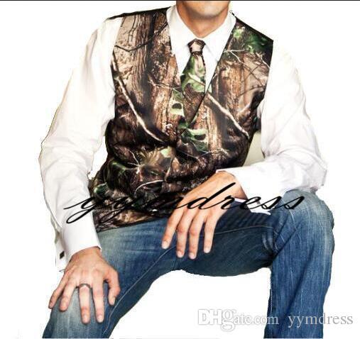 Gilet Uomo Matrimonio : Acquista camo matrimonio groom gilet farm country style hunter