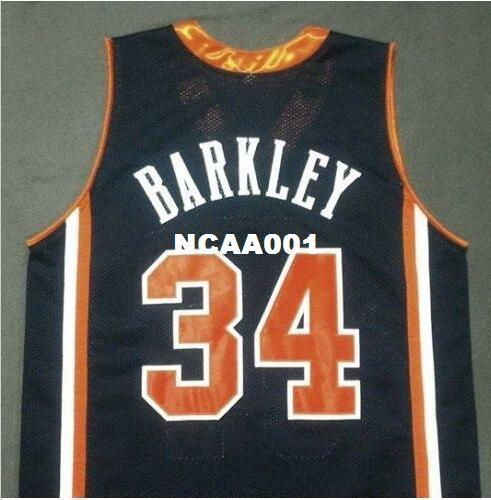 9efaf159568 Men Blue White  34 CHARLES BARKLEY Auburn Tigers College jersey Size S-4XL  or custom any name or number jersey