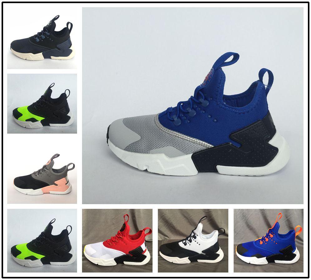 newest cb1af b1e1d Großhandel Nike Air Huarache Baby Kids Schuhe Air Huarache 4.0 Klassische  Triple Jugend Jungen Mädchen Huarache Schuhe Kinder Sport Turnschuhe  Laufschuhe ...