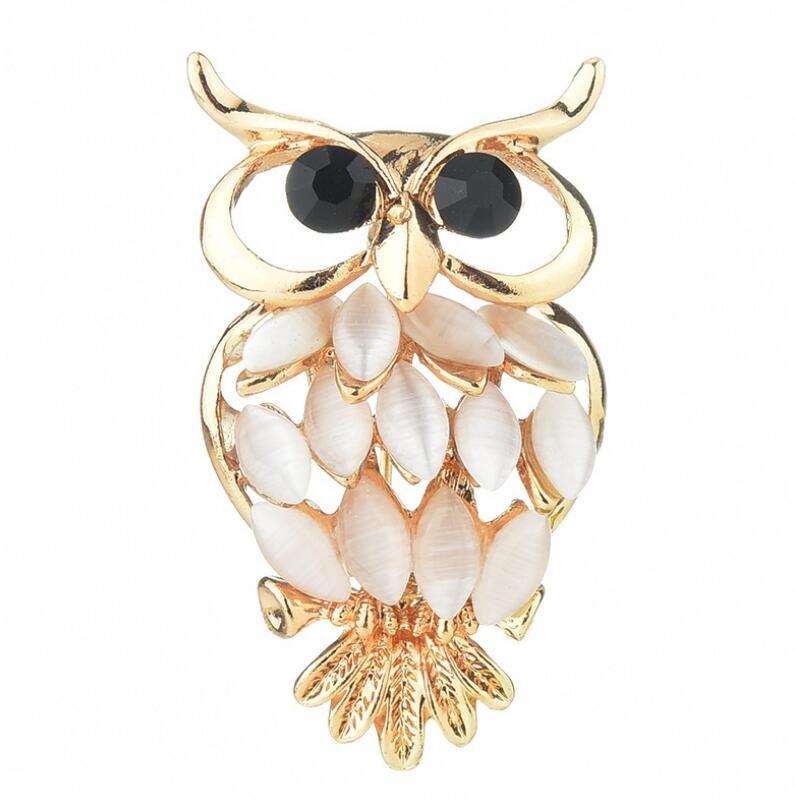 d4c6c595f66 2019 Fashion Crystal Owl Brooches Vintage Animal Alloy Rhinestone Brooch  Pins Wedding Women Men Scarf Dress Coat Accessories Jewelry From  Sensational, ...