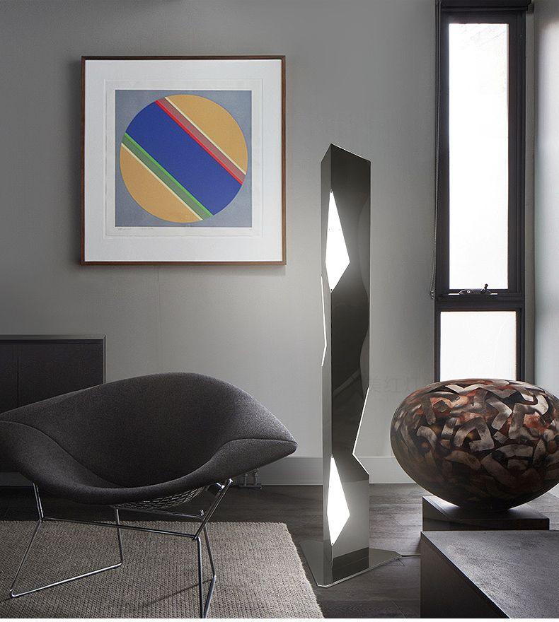 2019 Post Modern Living Room Vertical Floor Lamp Stainless Steel ...