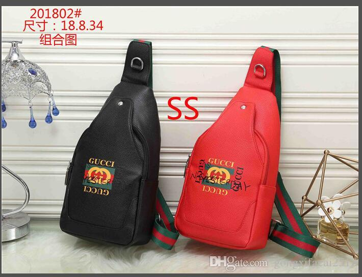8c613a398a56 2019 2018 Classic New Leather Chest Bag Men'S Retro Casual Male Strap  Backpack Black Red 201802# From Gongxifacai2518, $33.5   DHgate.Com