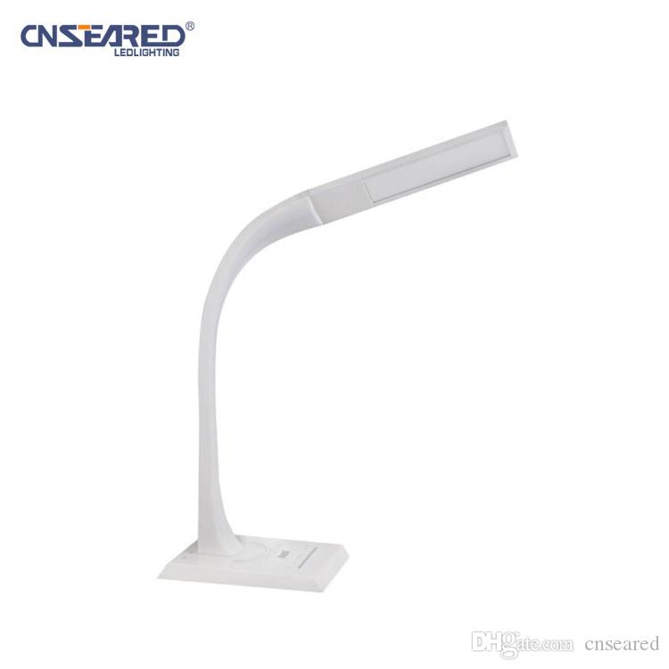 USB Battery Operated COB Rotating Dimmable Desk Table Lamp Office Reading Light