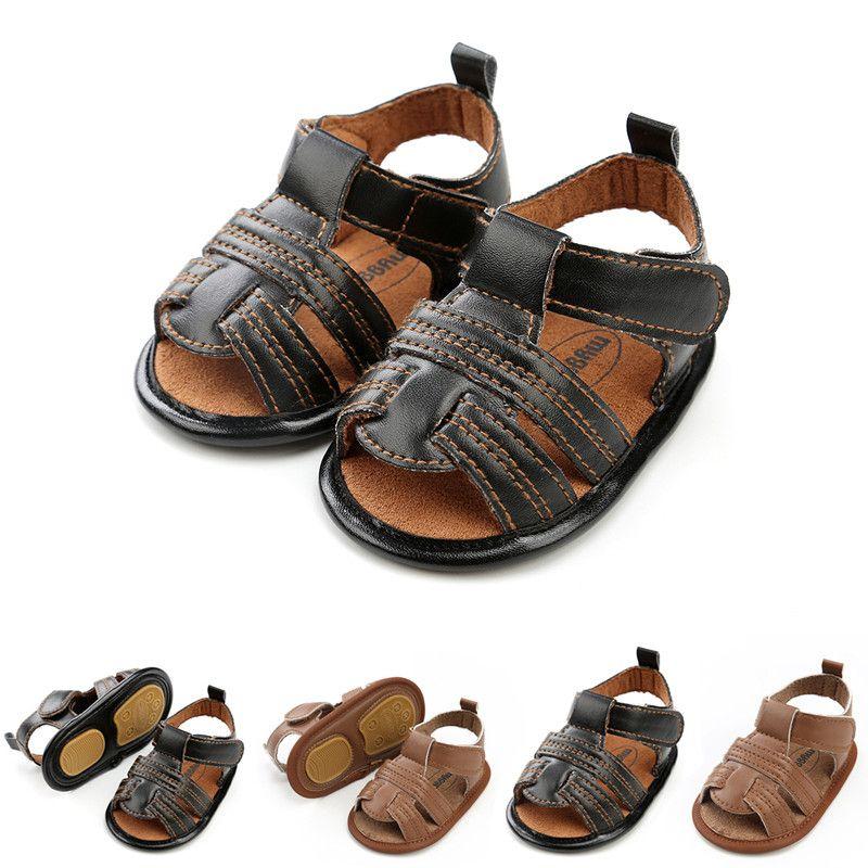 da1bf669426c1 Compre Sandalias De Bebé Niños Suela De Goma Zapatos De Diseñador Niños  Zapatos Clásicos De Verano Niño Suela Suave Negro es A  5.04 Del  Chinesefactory10 ...