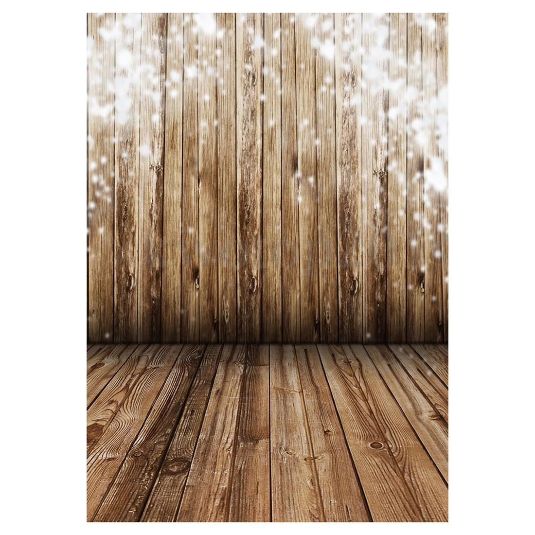 Großhandel 3x5ft Holz Wand Boden Vinyl Fotografie Hintergrund Foto
