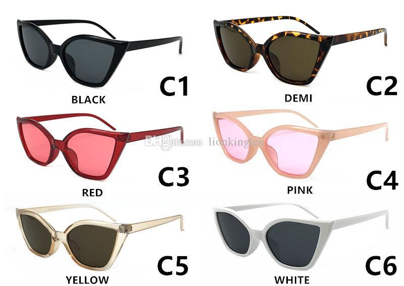 a9eacfa8ca 2018 Cat Eye Sunglasses Sexy Women Ocean Film Lens Classic Cateye Frame  Black Red Tint Sun Glasses Polit Optical Eyewear Shades Prescription  Sunglasses ...