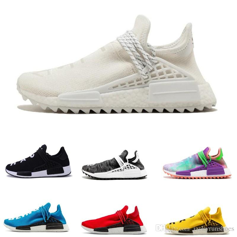 abc795cf8 2018 Human Race Factory Real Boots Yellow Red Black Orange Mens Pharrell  Williams X Human Race Running Shoes Sneakers Size 36 45 Men Sports Shoes  Shoe Shops ...