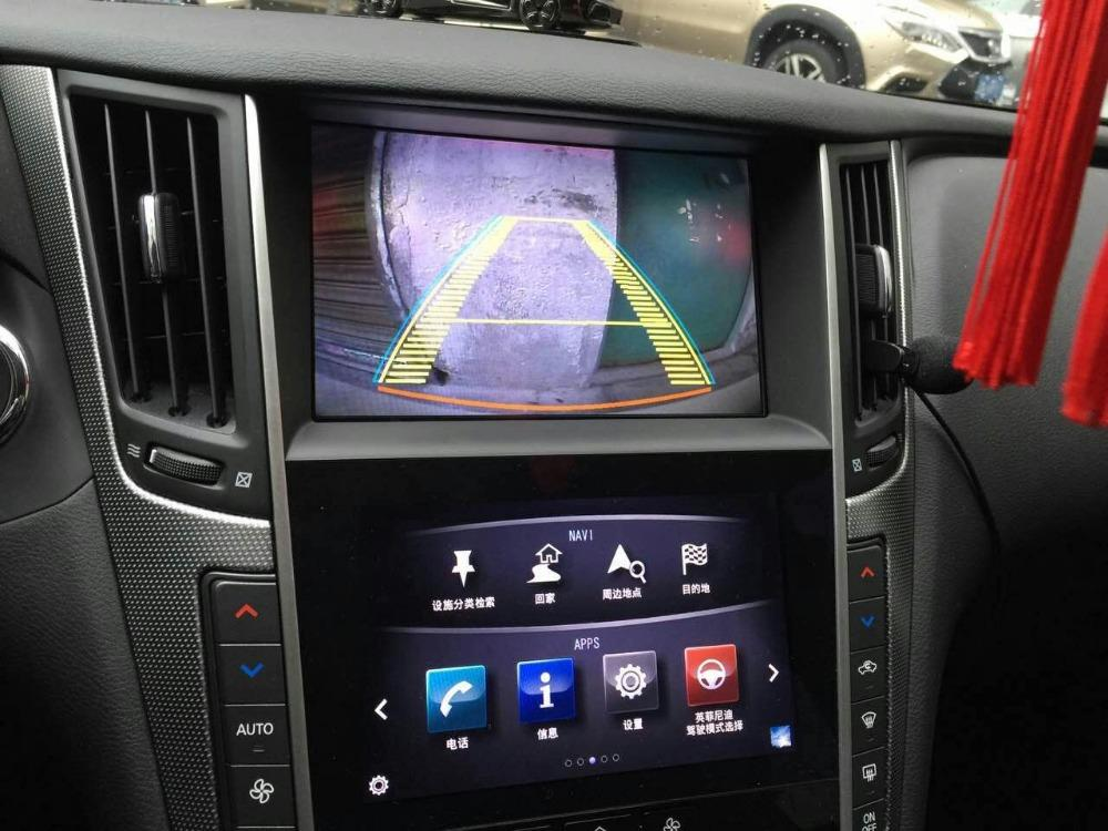 car original Screen to upgrade 2015~ Android 4 2 Car GPS Navigation video  interface for infiniti Q50 with WIFI Rear View