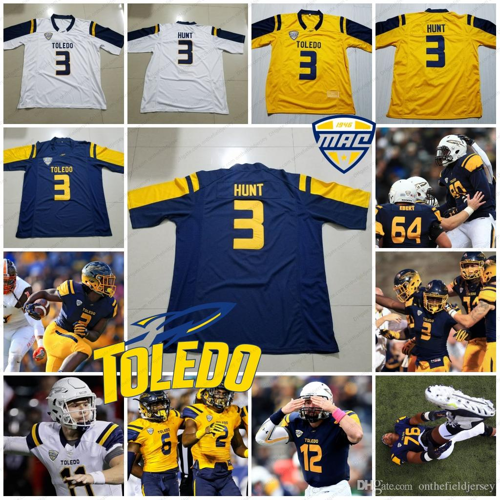 huge selection of df566 8d645 Custom Toledo Rockets Any Name Number 3 Kareem Hunt Diontae Johnson  D.Johnson 2 Terry Swanson 6 Mitchell Guadagni NCAA Football Jersey S-4XL
