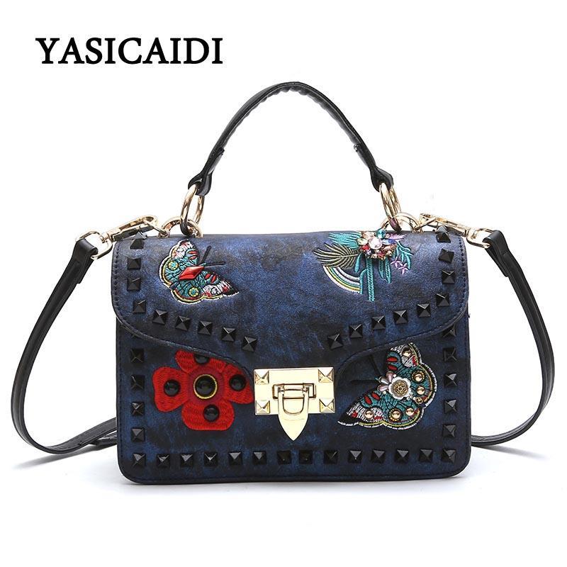 a98b40c07a328 Tasche Rivet Bestickt Handtasche Marke Großhandel Frauen nwOPkXN80