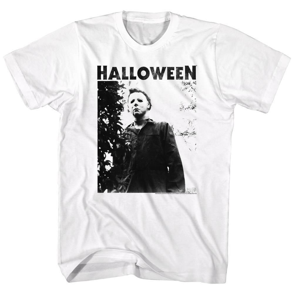 HALLOWEEN Men's Short Sleeve T-Shirt WHITE WATCHING BIG TITLE S - 3XL summer Hot Sale New Tee Print Men T-Shirt Top 100% cotton