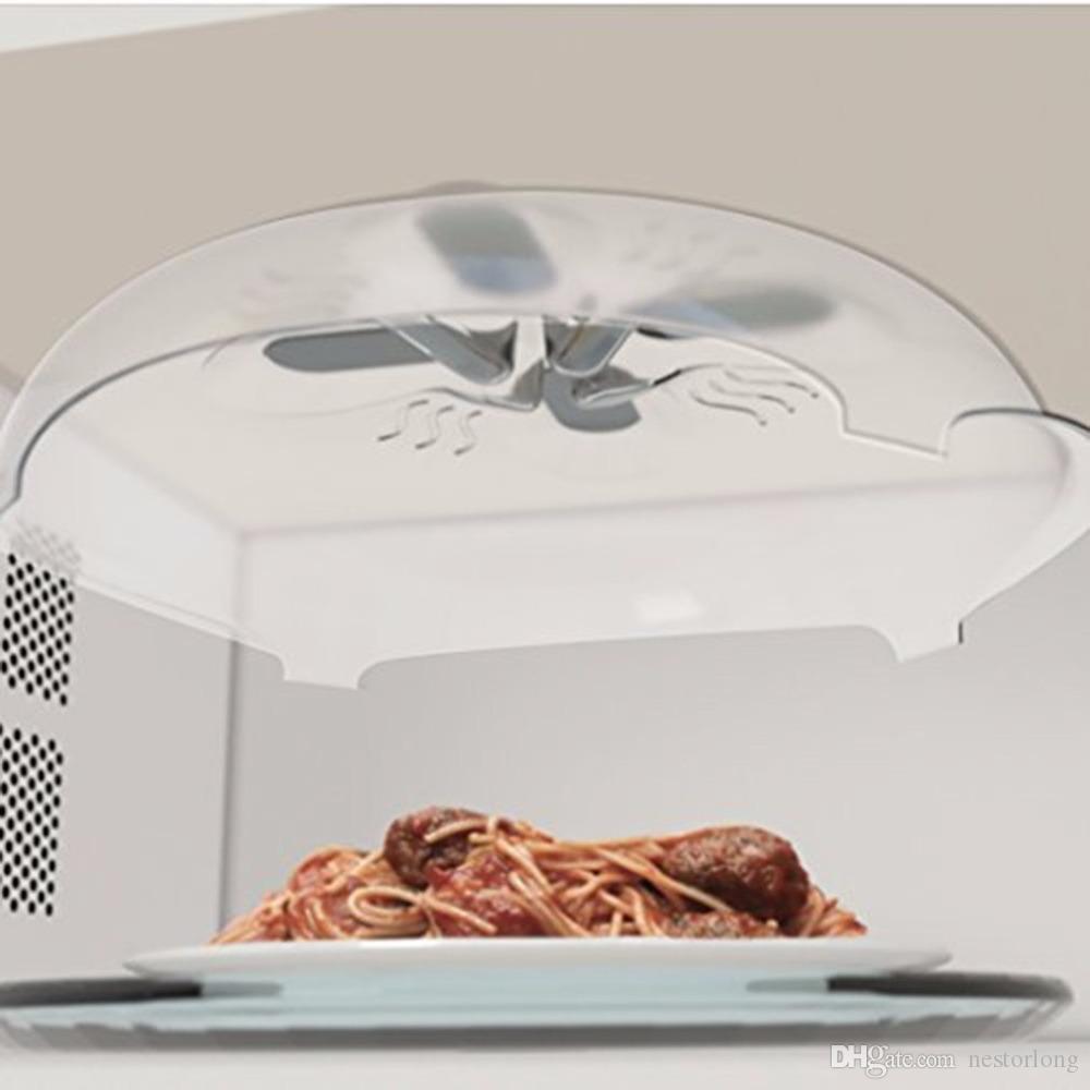 Mıknatıs Gıda Sıçramak Guard Mikrodalga Hover Anti-Sputtering Kapak Buhar Tahliye Ile Manyetik Sıçramak Kapak Isıya Dayanıklı