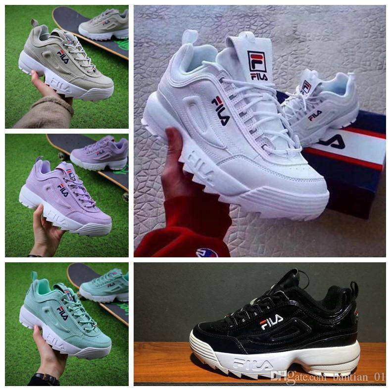 classic 4822b c4ec7 Compre Raf Simons X Disruptores 2 II Sawtooth 2018 Nuevas Zapatillas Para  Hombre Plataforma Para Mujer Blanco FW0165 015 Zapatillas De Diseñador De  Marca ...