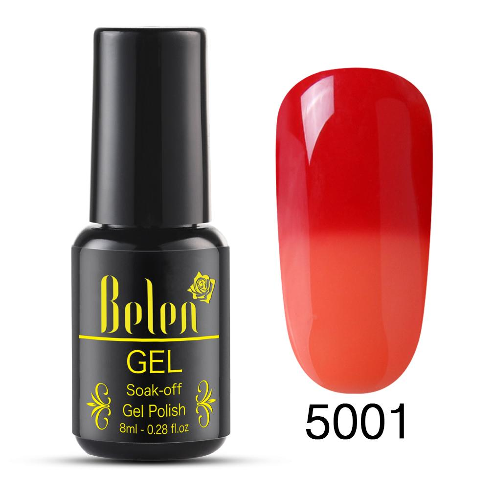 Belen Color Semi Gel Varnish Base Change Nail Led Permanent Thermo 8ml Lacquer Top Temperature Lamp Polish Uv WHYD29IE