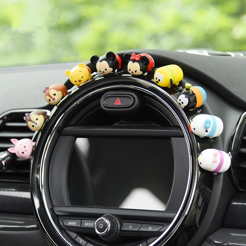 Super Cute Mini Car Ornaments Lovely Interior Decoration Dolls For
