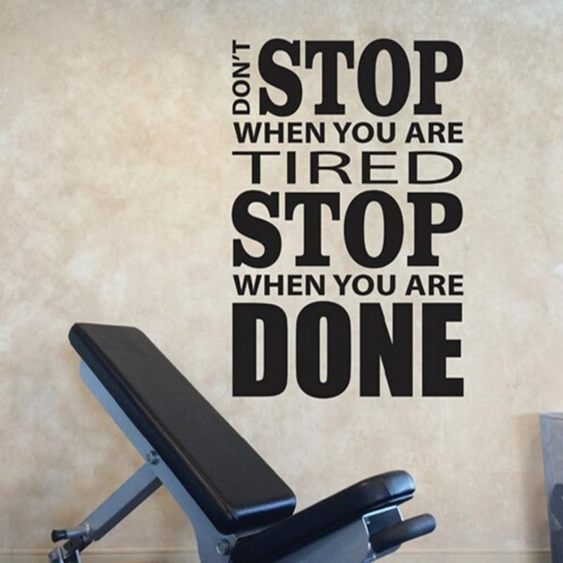 Home decoration stickers posters wall stickers home gym design