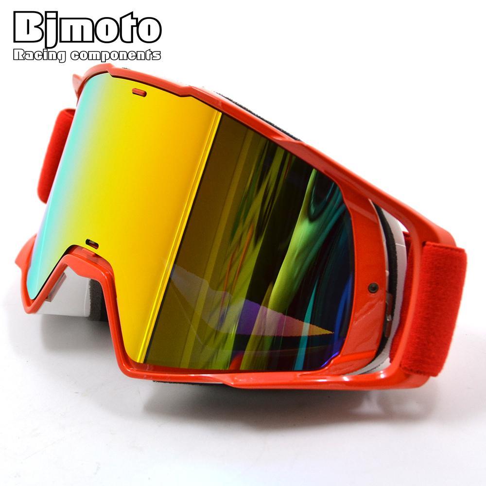 44907219df79f Compre BjMOTO Oculos Fora De Estrada Óculos De Motocross Óculos Óculos De  Sol De Neve Máscara De Esqui Esporte De Corrida De Ciclismo Motor MX  Capacete ...