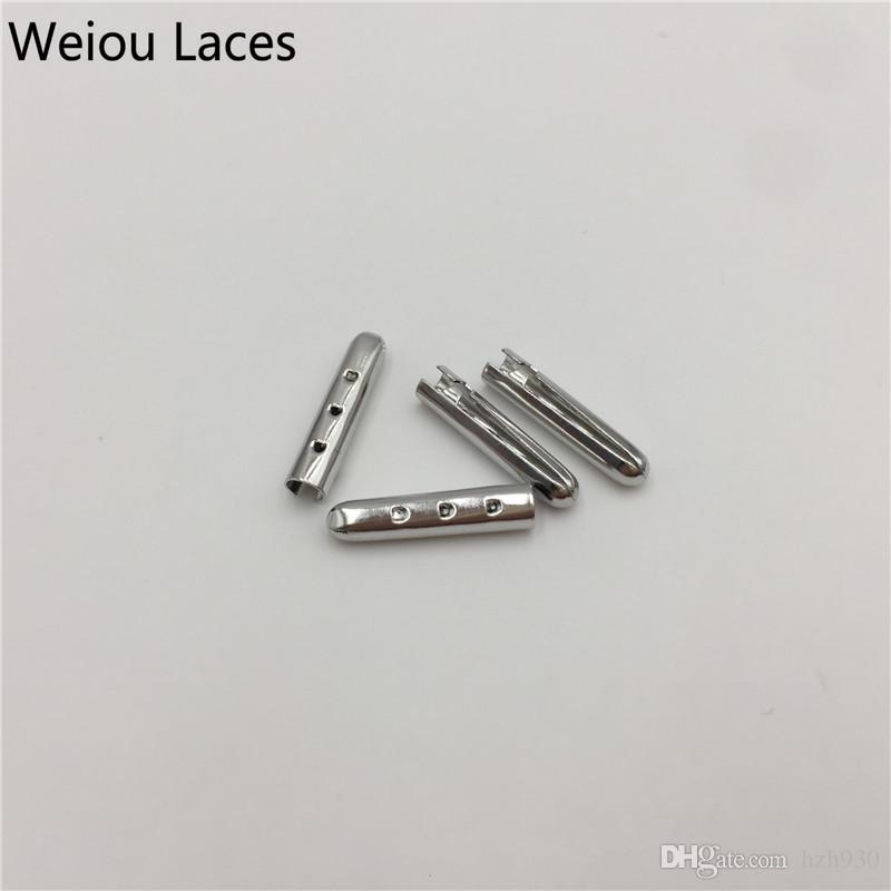 Weiou 3*17mm Gold Silver Gun Black Rose Gold Open Mouth Metal Tips /Bullet Aglets For Sneakers Shoelaces