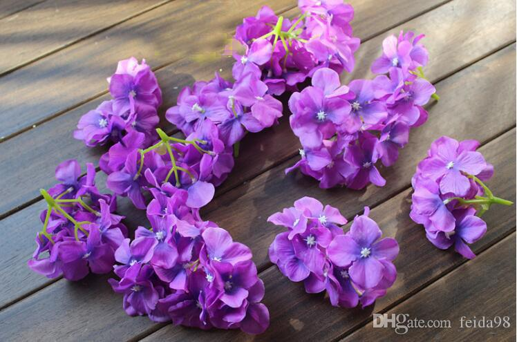 Özel yapay çiçekler ipek çiçekler ortanca çiçek kafa Yıldızlı lor çiçek çiçek kemerler GA66