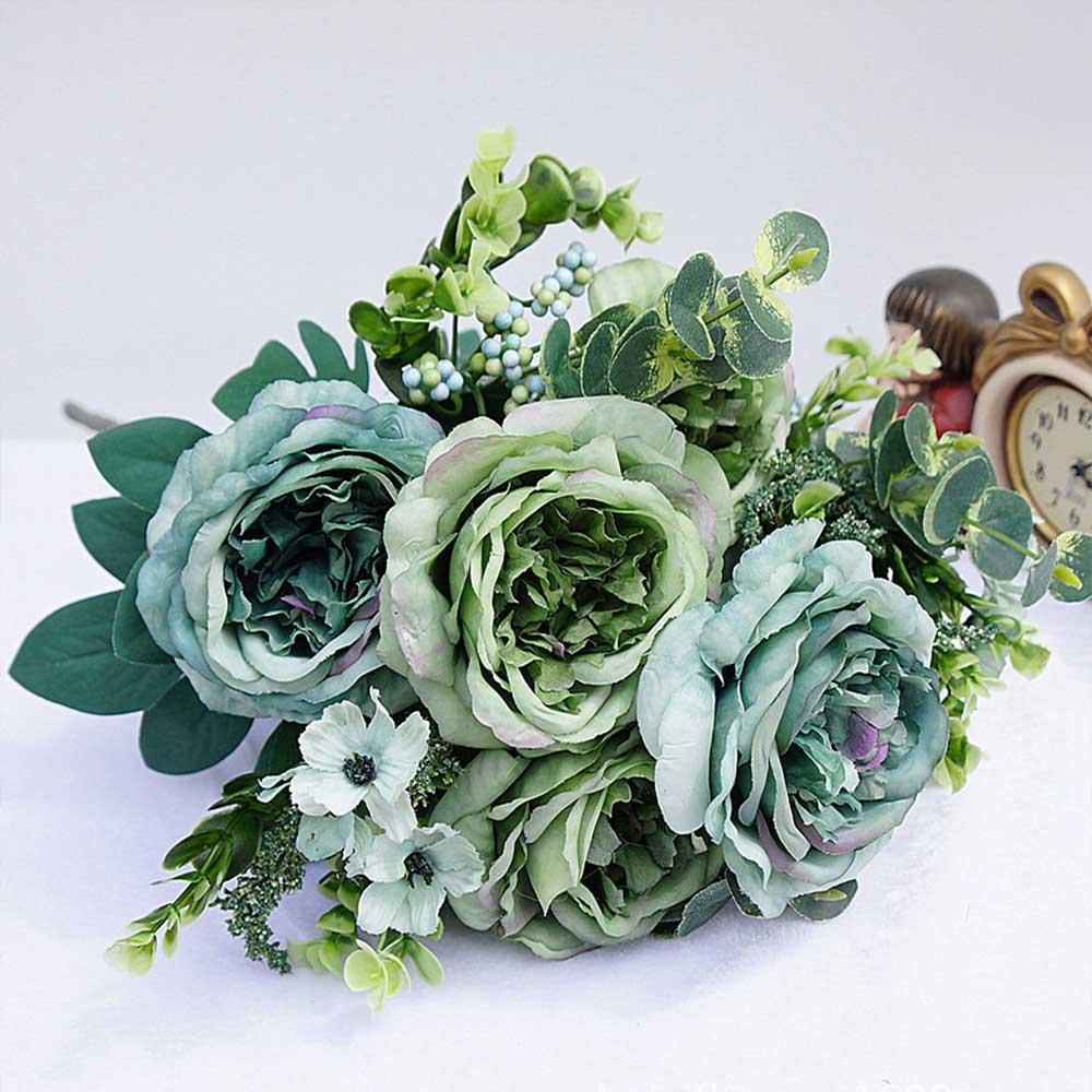 Online cheap 1 bundle artificial plastic flowers for home vases room online cheap 1 bundle artificial plastic flowers for home vases room wedding decoration christmas silk retro peony bride bouquet fake plant by yiruishen junglespirit Gallery