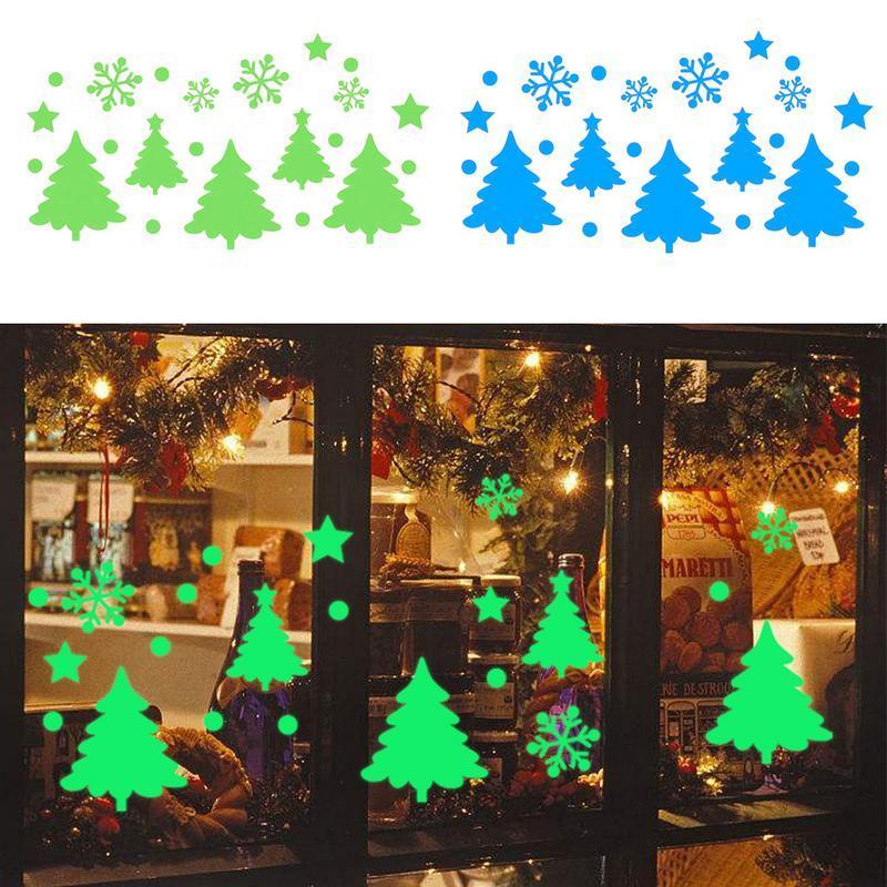 Großhandel Tapete Aufkleber Frohe Weihnachten Glow Schneemann Kiefer ...