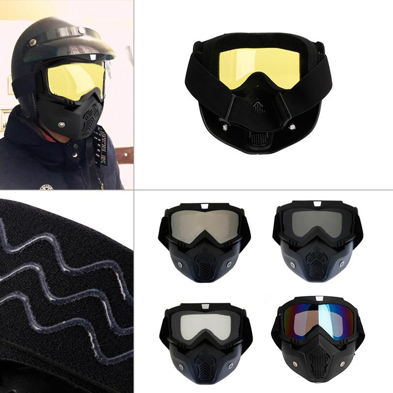 Motocross Goggles Dust Mask Face Glasses With Detachable Motorcycle Glasses