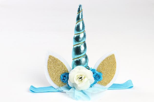 Hair Accessories Unicorn Headwear Children's Hair Accessories Baby Party Headband Bronzing High quality Low price