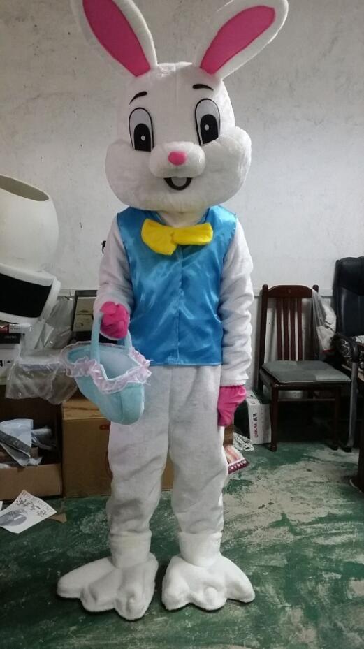 New Halloween Costume Easter Bunny Mascot Costume Bugs Rabbit Hare Adult  Fancy Dress Cartoon Suit Fancy Dress
