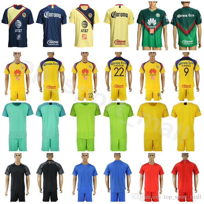 0f163638a 2019 2018 2019 Club America FC Liga MX Mexico Goalkeeper 30 IBARRA Soccer  Jersey Set 18 VALDEZ 1 MARCHESIN 27 JIMENEZ Football Shirt Kits From ...