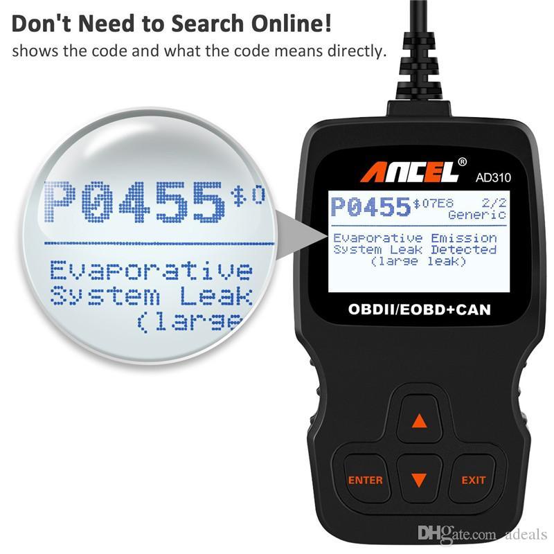 AD310 Classic Enhanced Universal OBD II Scanner Leitor de código de falha do motor de carro CAN Diagnostic Scan Tool Z