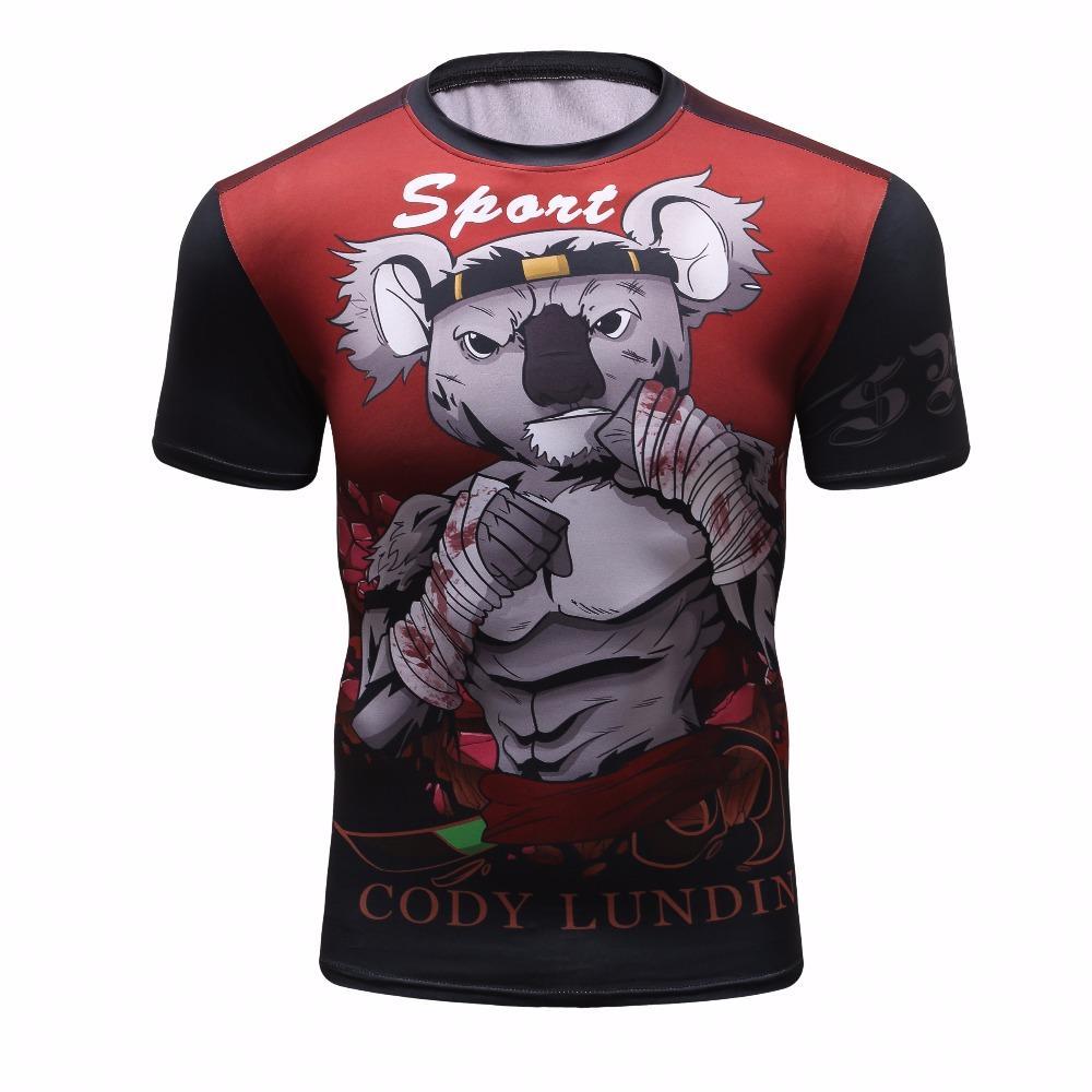 Acheter 2018 Hommes 3D Impression T Shirt Compression Chemise À Manches  Courtes Fitness T Shirt Bande Dessinée Combat Souris Cool Street Casual  Chemise De ... e86fdbed773