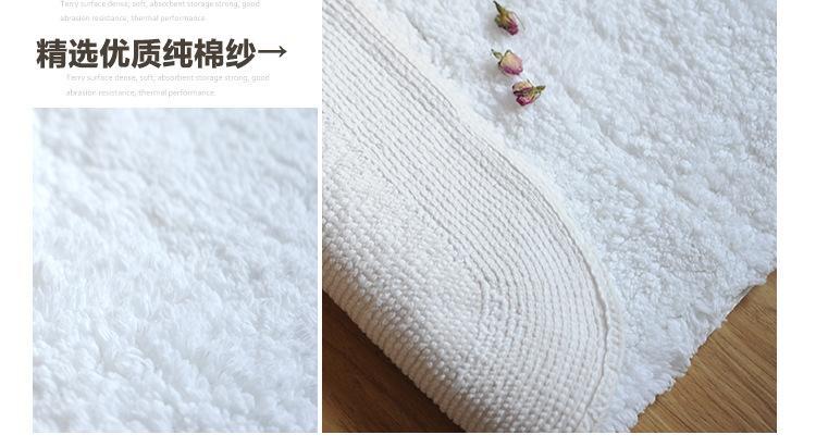 Acquista white hotel cotton absorbent morbido zerbino tappeti