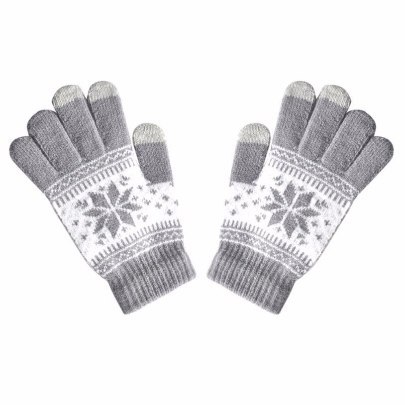 2018 Women Knitted Touch Screen Five Fingers Gloves Winter Cute ...