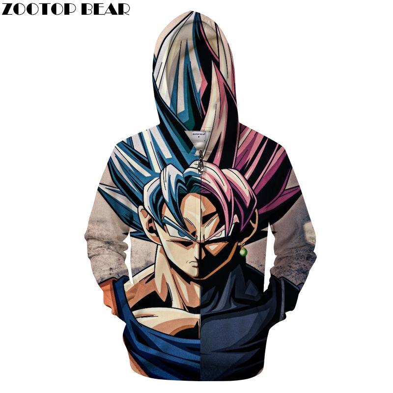 DHgate 3D Hoody Anime Streatwear Ship Goku Pullover Yujian18 Sweatshirt 35 Zipper 2019 Zip From Drop Com Groot Hoodie Coat 32 Tracksuit Men dBqRwxXwS