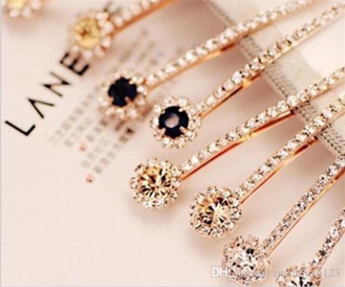 9e67f1a9d7 100pcs Rhinestone Hair Clip Fashion stones Hair Jewelry For Women Crystal  Hair Accessories R234