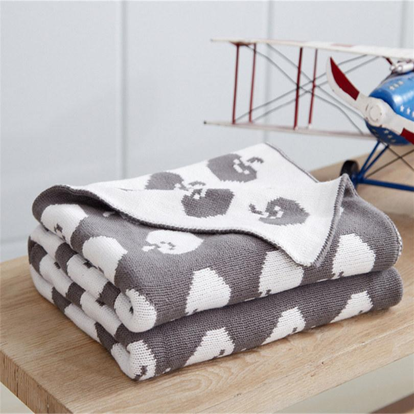 Knitted Blankets Cartoon Printed Plaids On Sofa Cover Travel ...