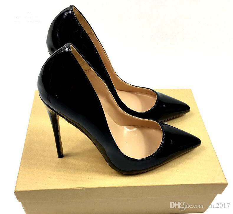 a810d2dcfe Brand 12CM High Heels Shoes Woman High Heels Pumps Wedding Bridal Shoes  Black Heels Women Shoes High Women Pumps Fashion Shoes Cheap Shoes For Men  From ...