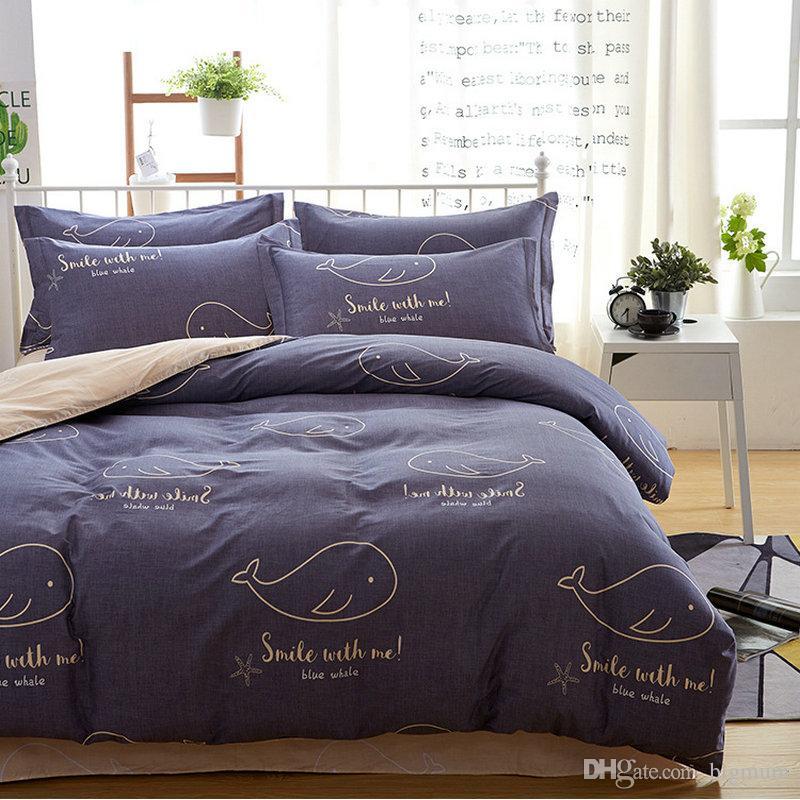 Floral Plant Pastoral Bird Printing Bedding Sets Cartoon Creative Bed Sheets Cotton Bedding Pillowcase Duvet Cover Sets