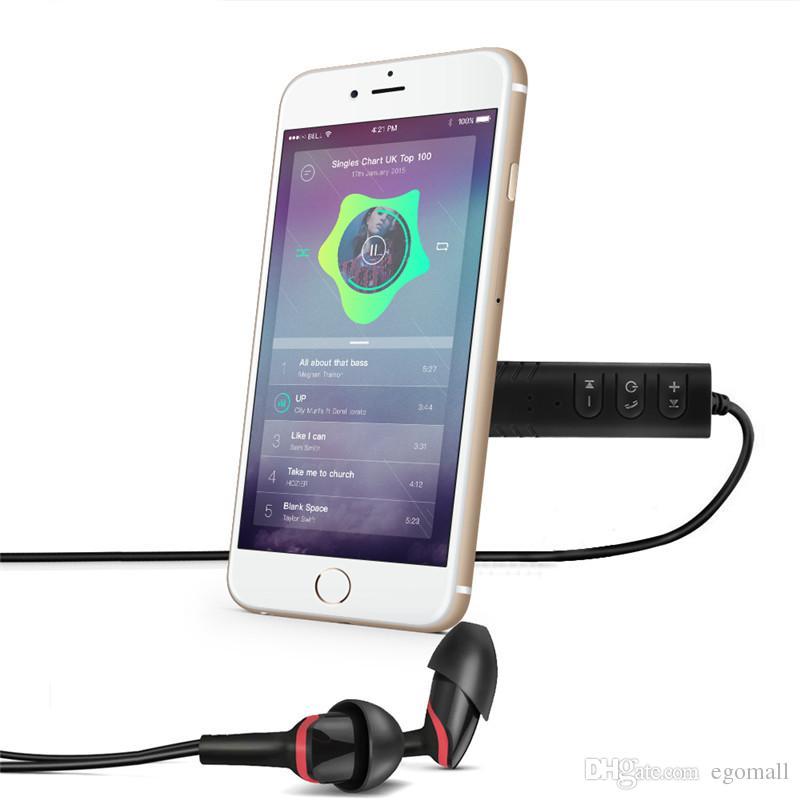 Evrensel 3.5mm jack Bluetooth Araç Kiti Hands free Müzik Ses Alıcısı Adaptörü Oto AUX Kiti Hoparlör Kulaklık için Araba Stereo
