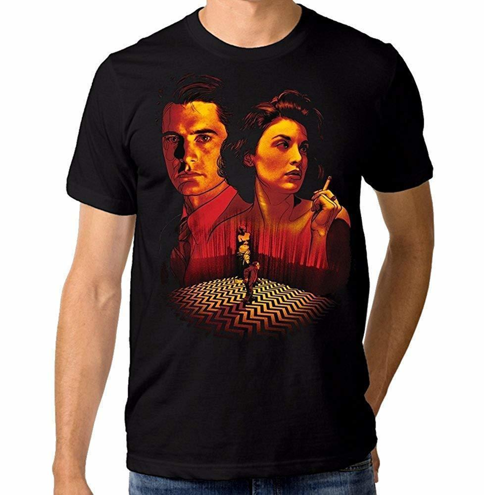 Twin Peaks Art T-Shirt, Dale Cooper Tee, Men's All Sizes Men Brand Clothihng Top Quality Fashion Mens T Shirt 100%Cotton