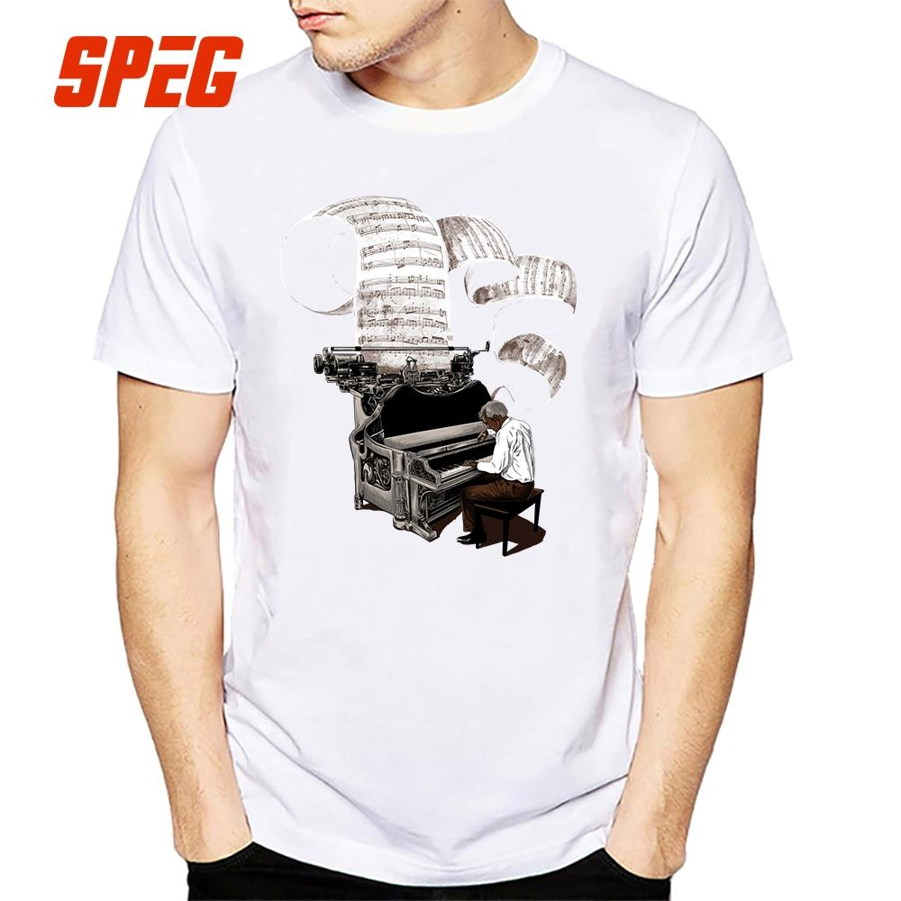 70c9c8929 Design Composer Music Note Piano Pianist T Shirt Men Male Short Sleeve  Thanksgiving Day Custom 3xl Group Tee Shirts Graphic T Shirts Custom Shirt  From ...