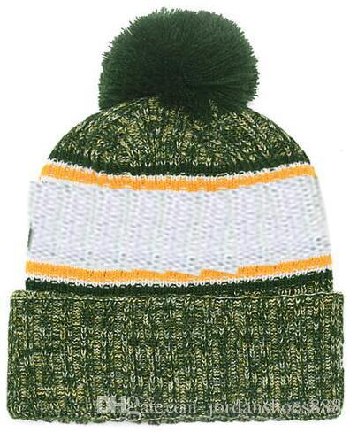 87fb77ad Hot sale Beanie All Teams Logo Sideline Cold Weather Graphite Official  Revers Sport Knit Hat winter Warm Knitted Wool Packers Skull Cap
