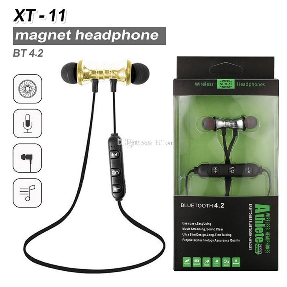 7a2fa52691e XT11 Bluetooth Headphones Wireless Magnetic Earphones Stereo Earbuds Sport  Headset BT4.2 With Mic Volume Control For IPhone LG Smartphones Headphones  For ...