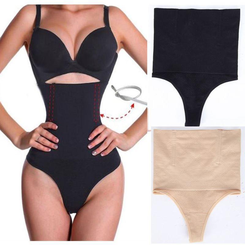 Femmes taille haute culotte brève corps shaper ventre contrôle ceinture sous-vêtements gilets ceinture de ventre minceur thong culotte