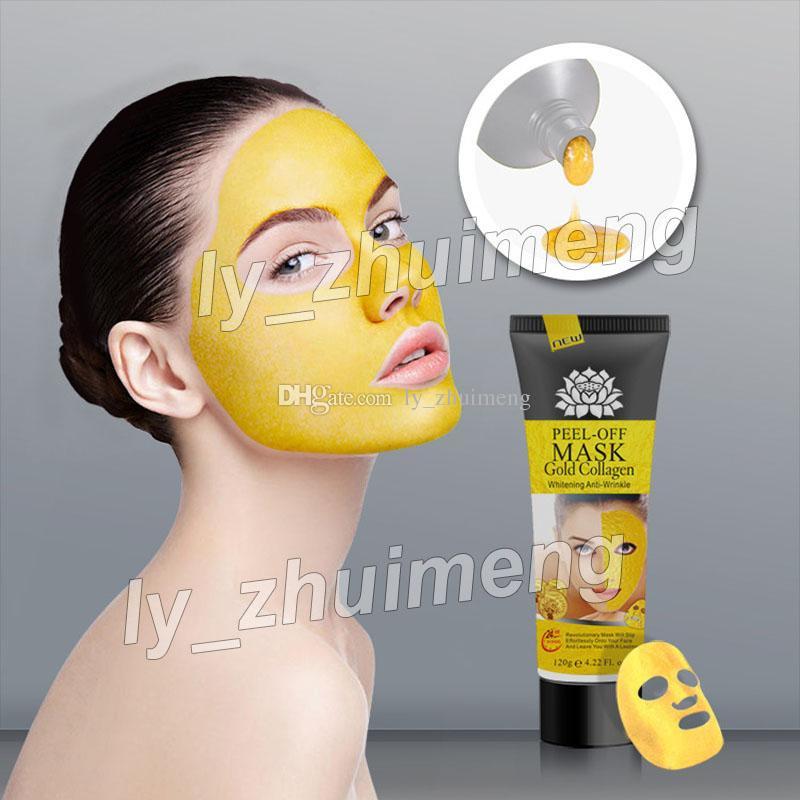 Peel Off Facial Mask 골드 콜라겐 딥 클렌징 120ml 크리스탈 마스크 블랙 헤드 리무버 페이스 마스크 스킨 케어 무료 배송