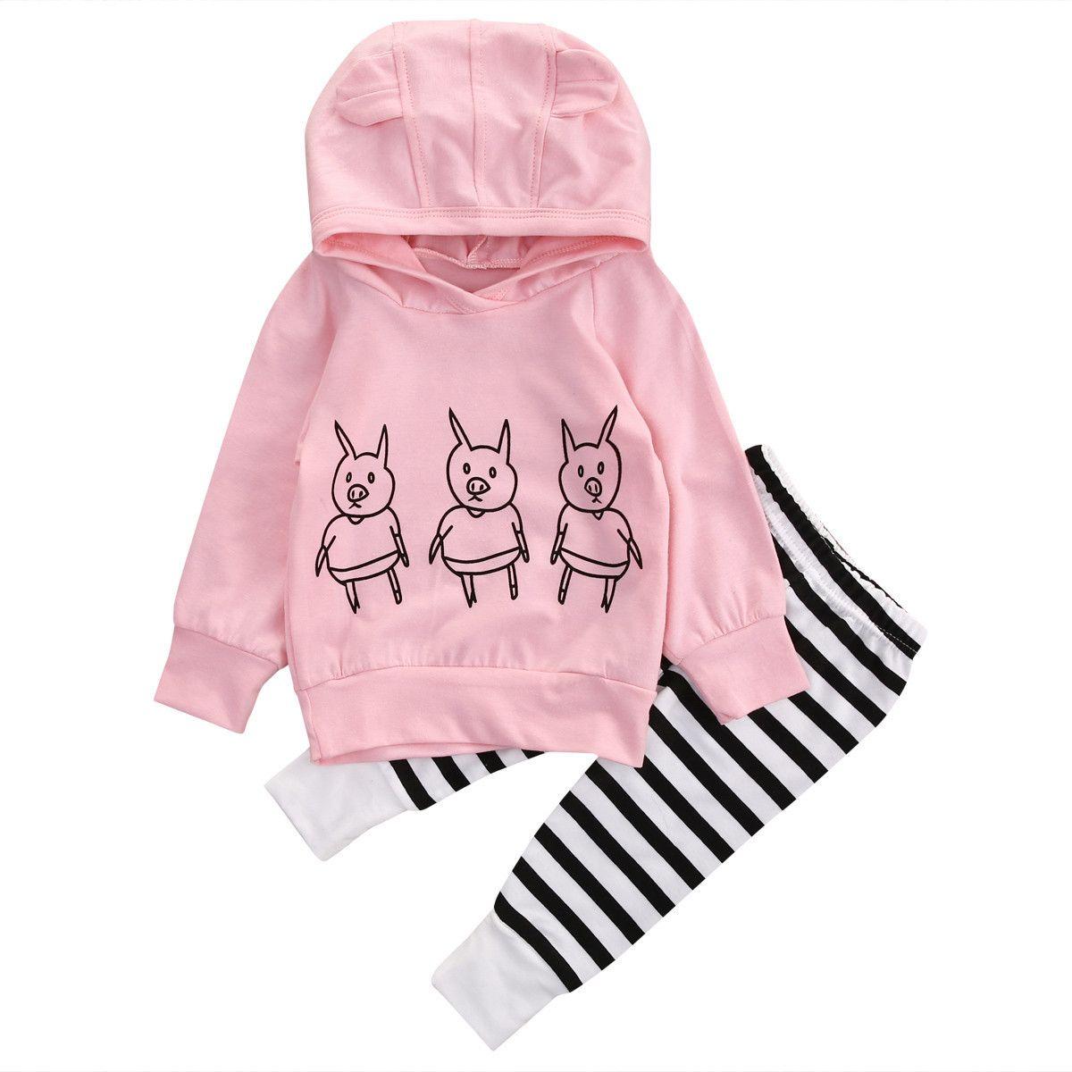 Compre Bebés Recién Nacidos Trajes Animales Cerdo Con Capucha Top + Pantalones  Polainas Niños Lindos Ropa Niño Manga Larga Boutique Niños Ropa 0 2Y A  7.2  ... e81e58d0bf70
