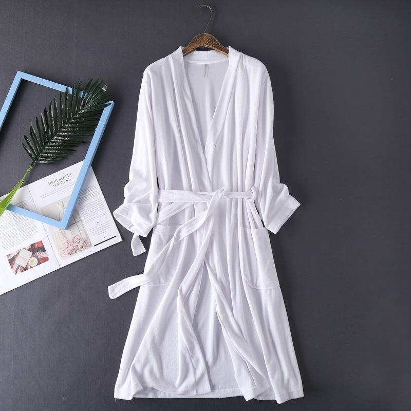 8ed3998b7529 Terry Bath Robe Autumn Bathrobe Dressing Gowns For Women Cotton Dress Plush  Bathrobes Bridal Bridesmaid White Kimono Robes Canada 2019 From Weilad